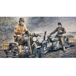 Plastikový model motorek U.S. MOTORCYCLES WW2 D-DAY (1:35) - Italeri 0322
