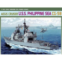 Plastikový model lodě AEGIS CRUISER U.S.S. PHILIPPINE SEA CG-58 (1:700) - Dragon 7045
