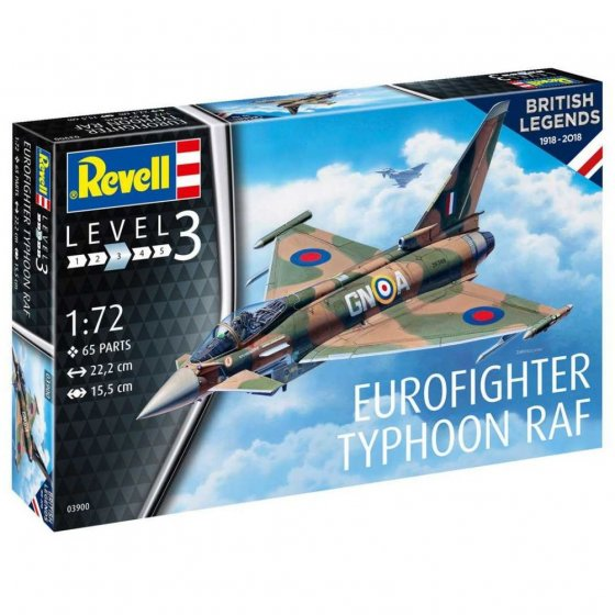 Plastikový model letadla 100 Years RAF: Eurofighter Typhoon (1:72) - Revell 03900
