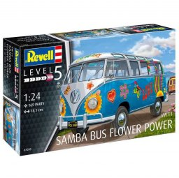 "Plastikový model auta VW T1 Samba Bus ""Flower Power"" (1:24) - Revell 07050"