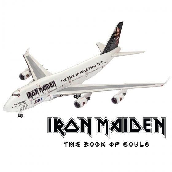 "Plastikový model letadla Boeing 747-400 IRON MAIDEN ""Ed Force One\"" (1:144) - Revell Limited Edition 04950"