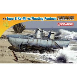 "Plastikový model tanku IJN TYPE 2 AMPHIBIOUS TANK ""KA-MI"" W/FLOATING KIT EARLY PRODUCTION (1:72) - Dragon Model Kit military 7485"