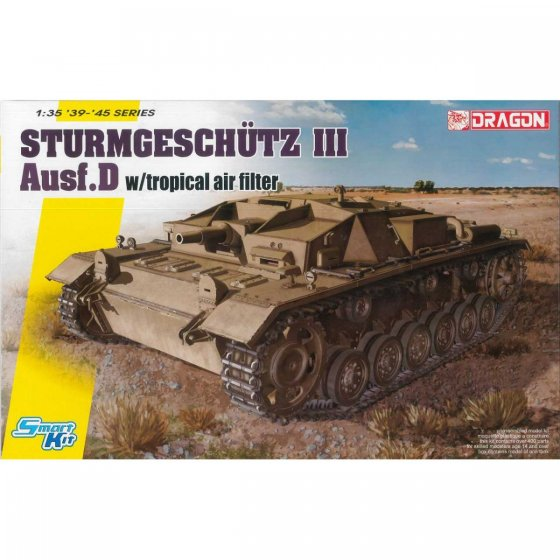 Plastikový model tanku STURMGESCHUTZ III Ausf.D w/Tropical Air Filter (1:35) - Dragon 6905