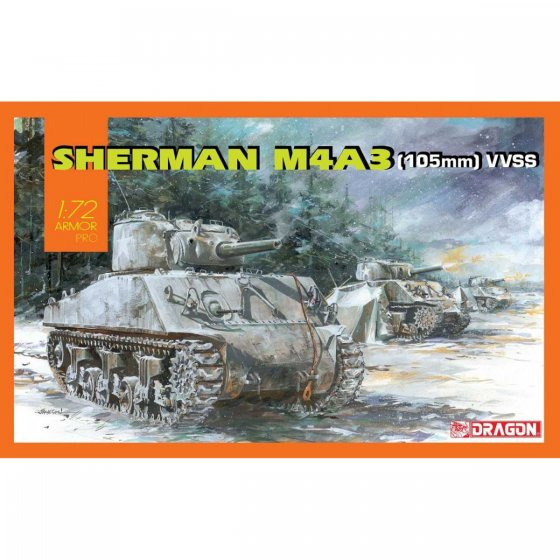 Plastikový model tanku Sherman M4A3 (105mm) VVSS (1:72) - Dragon 7569