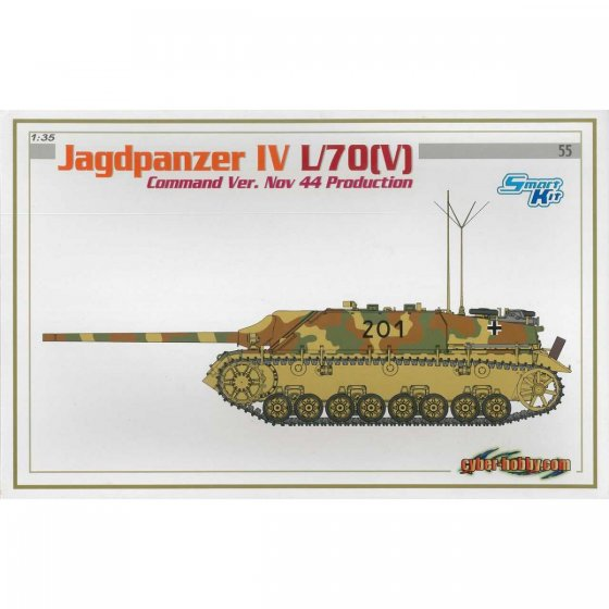 Plastikový model tanku JAGDPANZER IV L/70(V) COMMAND VERSION NOV 44 PRODUCTION (SMART KIT) (1:35) - Dragon 6623