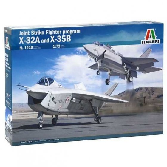 Plastikový model letadla JSF Program X-32A and X-35B (1:72) - ItaleriModel Kit letadla 1419