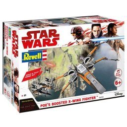 Plastikový model Poe's Boosted X-wing Fighter - EasyKit Build & Play - zacvakávací se zvukem - Revell Star Wars 06763