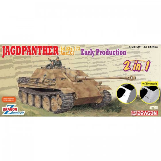 Plastikový model tanku Jagdpanther Early Production (2 in 1) (1:35) - Dragon 6758