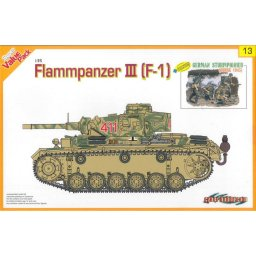 Plastikový model tanku FLAMMPANZER III (F-1) + GERMAN STURMPIONER (1:35) - Dragon 9113