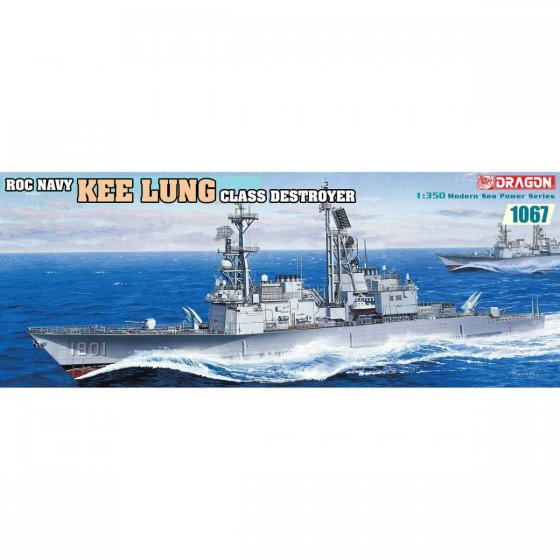 Plastikový model lodě Roc Navy Kee Lung Class Destroyer (1:350) - Dragon 1067