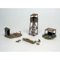 Plastikový model diorama BATTLEFIELD BUILDINGS (1:72) - Italeri 6130