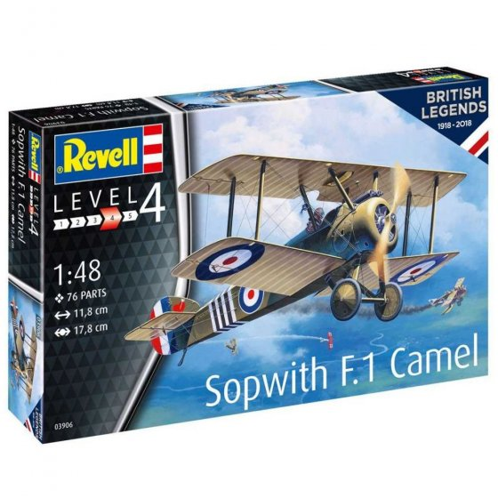 Plastikový model letadla 100 Years RAF: Sopwith Camel (1:48) - Revell 03906