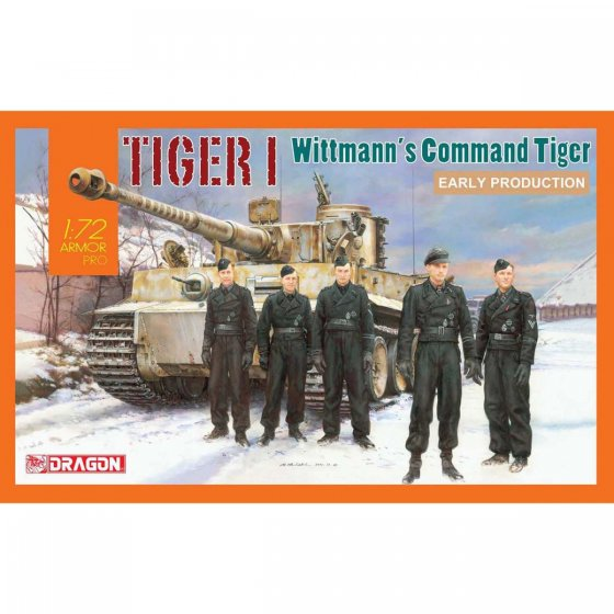 Plastikový model tanku Tiger I Early Production, Wittmann's Command Tiger (1:72) - Dragon 7575