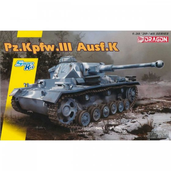 Plastikový model tanku Pz.Kpfw.III Ausf.K (Smart Kit) (1:35) - Dragon 6903