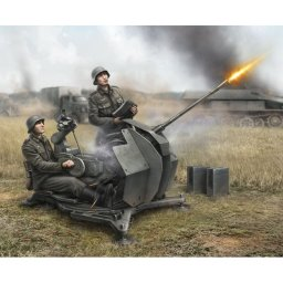 Plastikový model German Anti-Aircraft Gun with Crew (1:72) - Zvezda Wargames (WWII) 6117