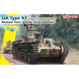 "Plastikový model tanku IJA Type 97 Medium Tank ""Chi-Ha"" Early Production (Smart Kit) (1:35) - Dragon 6870"