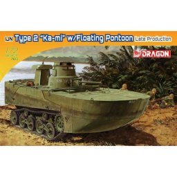 "Plastikový model tanku IJN TYPE 2 AMPHIBIOUS TANK ""KA-MI"" W/FLOATING PANTOONS (LATE PRODUCTION) (1:72) - Dragon Model Kit military 7486"