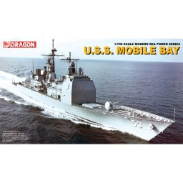 Plastikový model lodě U.S.S. MOBILE BAY (1:700) - Dragon 7035