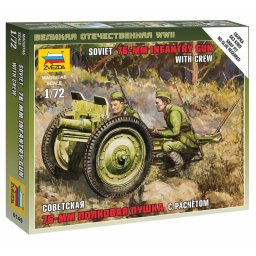 Plastikový model děla Soviet 76-mm Gun (1:72) - Dragon Wargames (WWII) military 6145