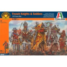 Plastové figurky 100 YEARS WAR-FRENCH KNIGHTS & S (1:32) - Italeri 6860