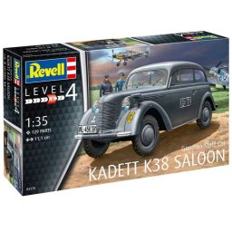 Plastikový model tanku German Staff Car KADETT K38 SALOON (1:35) - Revell Plastic ModelKit military 03270