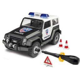 Plastikový model auta Offroad Vehicle Police (1:20) - Junior Kit, šroubovací - Revell 00807