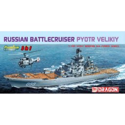 Plastikový model lodě RUSSIAN BATTLECRUISER PYOTR VELIKIY (1:700) - Dragon 7074
