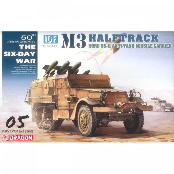 Plastikový model vozidla IDF M3 Halftrack Nord SS.11 Anti-Tank Missile Carrier (Smart Kit) (1:35) - Dragon 3579