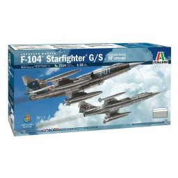 Plastikový model letadla F-104 STARFIGHTER G/S - Upgraded Edition RF version (1:32) - Italeri 2514