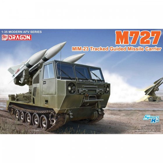Plastikový model vozidla M727 MIM-23 Tracked Guided Missile Carrier (1:35) - Dragon 3583