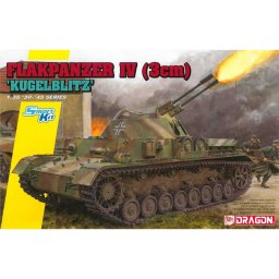 Plastikový model tanku Flakpanzer IV (3cm) 'Kügelblitz' (Smart Kit) (1:35) - Dragon 6889