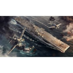 Plastikový model lodě U.S.S. ESSEX (1:700) - Italeri Model Kit World of Warships 46503