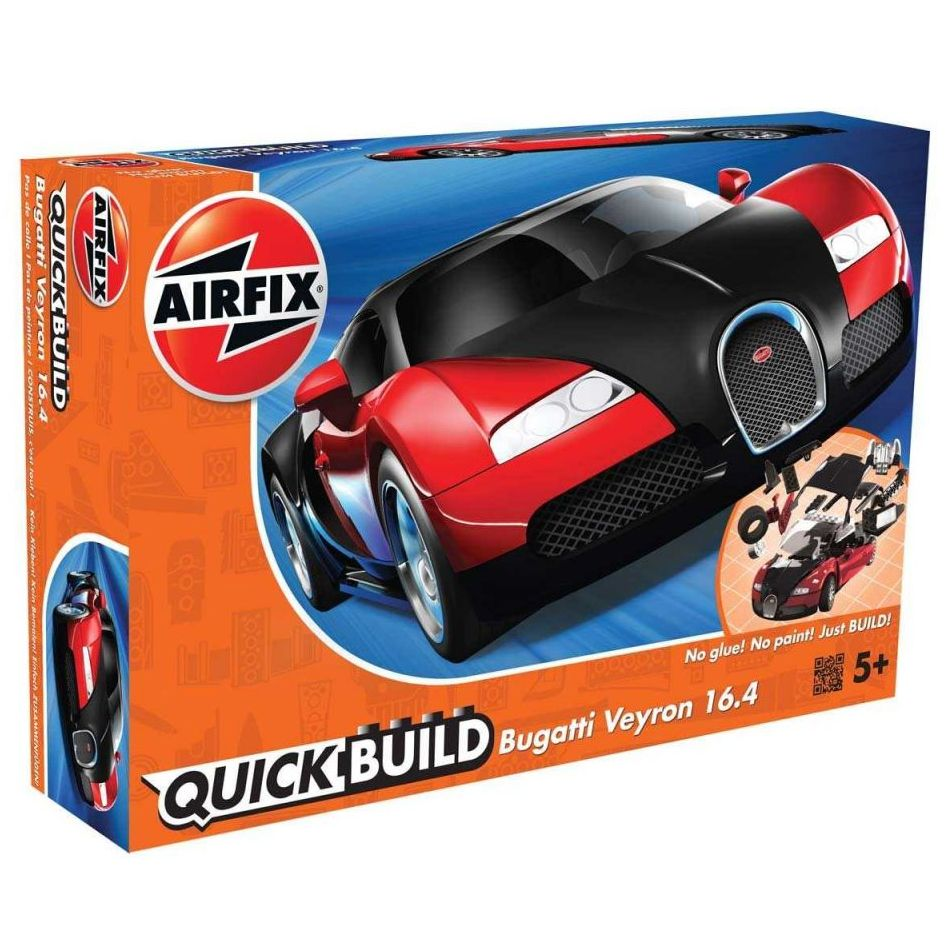 plastikov model auta bugatti veyron erven quick build zacvak vac jako lego airfix j6020. Black Bedroom Furniture Sets. Home Design Ideas
